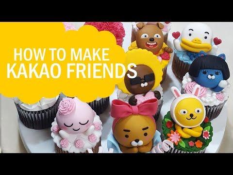 카카오프렌즈 슈가 컵케이크 캐릭터만들기 How to make KAKAO FRIENDS cupcakes