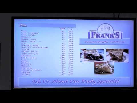 Frank's Bake Shop - Menu Board Demo