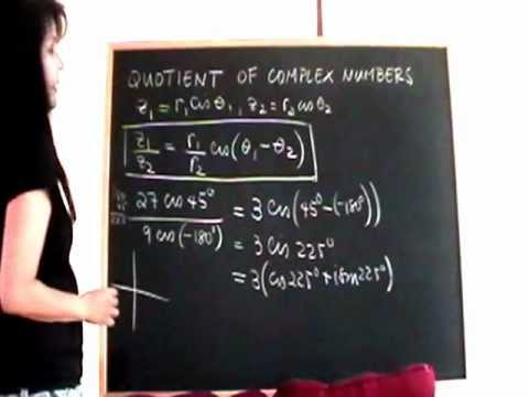Quotient of Complex Numbers in Polar Form