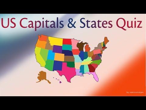 US Capitals and States Quiz