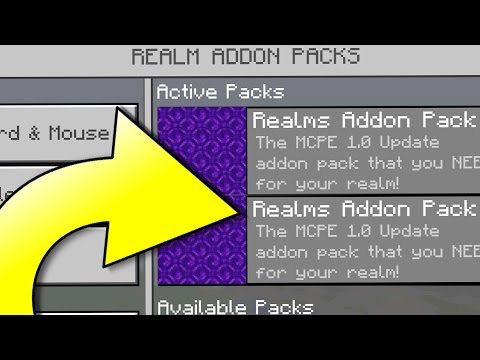 MCPE 1.0 Update REALMS Addon Pack YOU NEED! - Minecraft Pocket Edition (1.0 Update Realms)