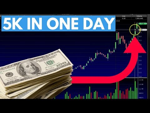 How I Made $5,000 IN ONE DAY Trading Penny Stocks | Stock Market Tip: Learn The Patterns