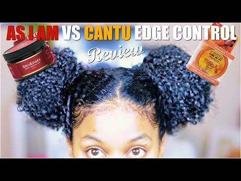 Grow Edges VS Cantu Edge Control| First Impression+Review & Demo on Natural Curly Hair
