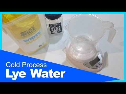 Lye Water - Cold Process Soap Making, How I make Lye Water