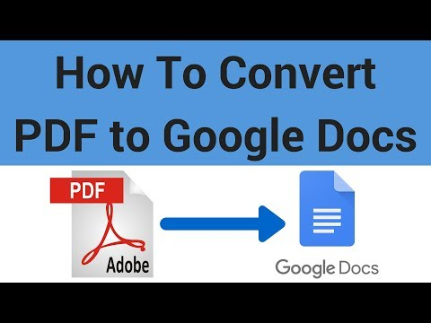 How to Convert a PDF to a Google Doc