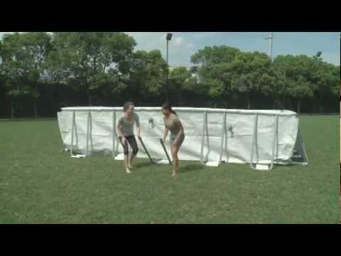 Bestway Rectangular Frame Above Ground Swimming Pool - Set Up Video