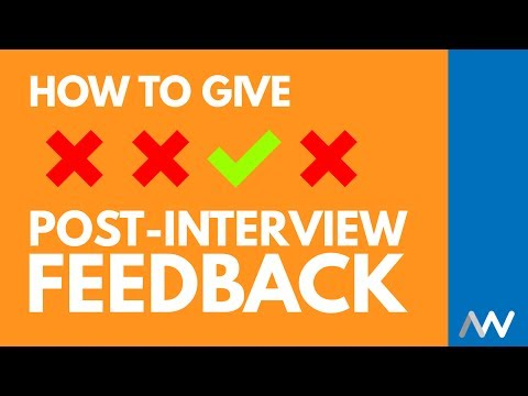 How to Give Candidate Feedback After an Interview