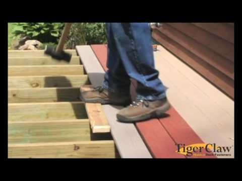Installation instructions for Timbertech decking
