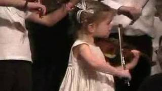 First concert - 2 year old violinist