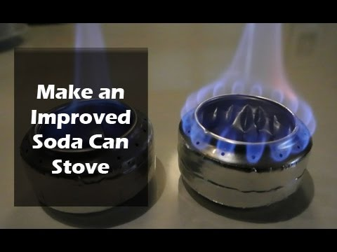 How to Make a Soda Can Stove - Old vs Improved Design