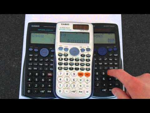 Casio Calculator Fractions to Decimals (and back)
