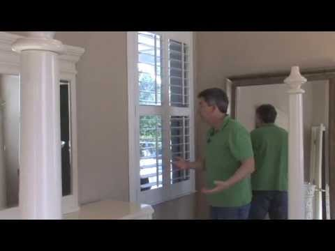 How to install plantation shutters in your windows to enhance the beauty of your home.