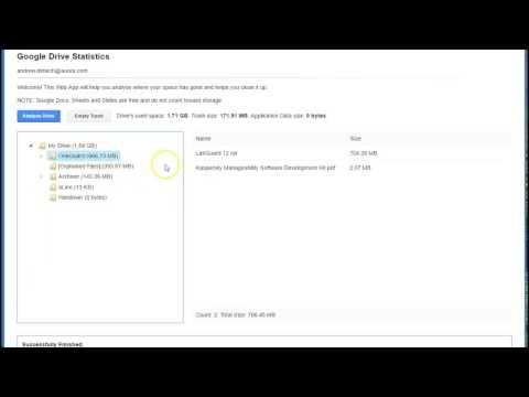 Google Drive Storage Analysis
