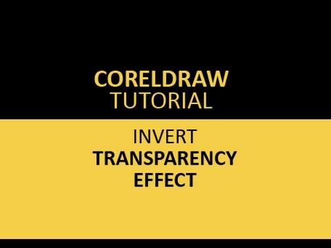 Coreldraw tutorial - Inverse transparency effect