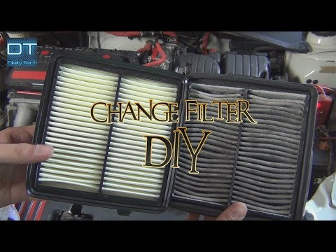 How to change Engine Air Filter in Home DIY Honda City 2018