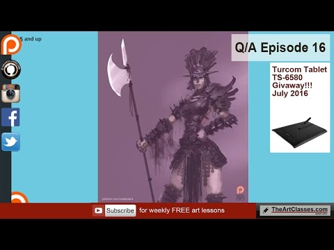 Developing your own art style - Q&A episode 16