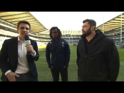 Marland Yarde and Alex Corbisiero Preview - O2 Inside Line Live England v Wales