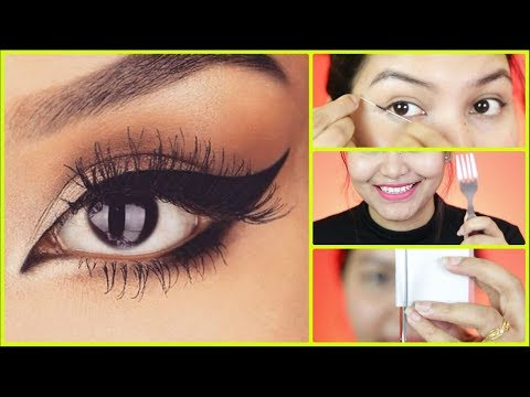 Wing Eyeliner लगाने का सही तरीका-How To Apply Perfect Winged Eyeliner | INDIANGIRLCHANNEL TRISHA