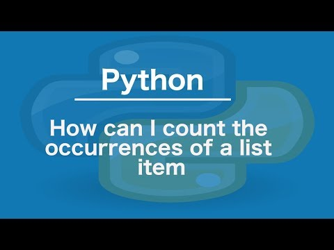 Python How can I count the occurrences of a list item