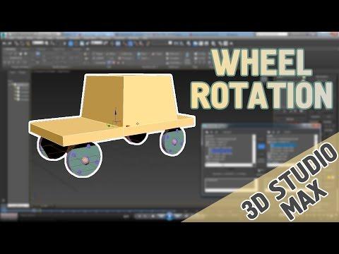 3D Studio Max - Wheel Rotation / Car Animation / Car Rig / Basic Tutorial