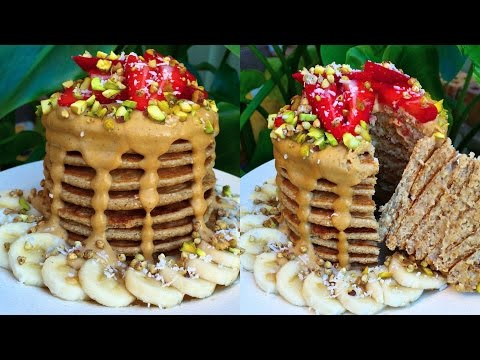 VEGAN PANCAKES (3 INGREDIENTS, LOW FAT)