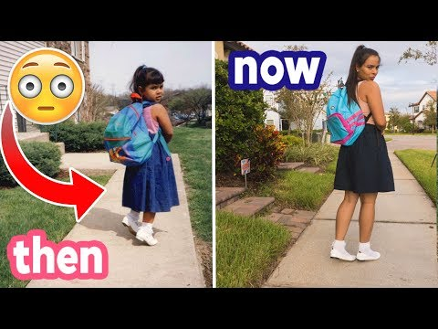 Recreating My Awkward Childhood Photos! THEN vs. NOW! Natalies Outlet