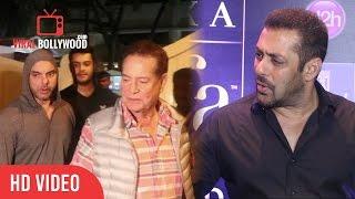Salman Khan Reaction On Sohail Khan Misbehaving With Media   Best Answer by Salman khan
