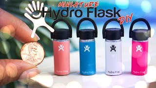 DIY - How to Make: Miniature Hydro Flask inspired Bottle 1/6th Scale | Keychain | Magnet
