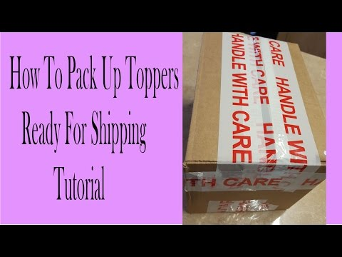 How to pack breakable items, Cake toppers, packing a box tutorial