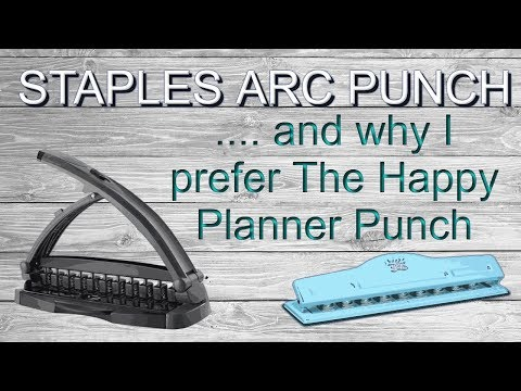 Arc System Desktop Punch by Staples vs MAMBI hole punch to