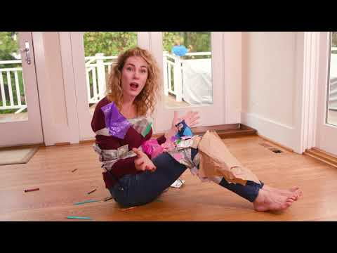 Parenting Hacks | How to Clean the House with Duct Tape | BLOOPERS