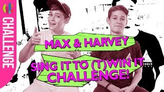 Max & Harvey Interview!   They sing their answers!