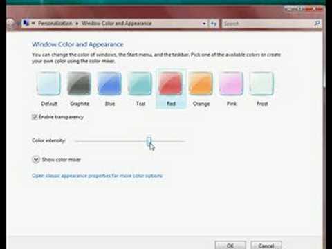 Vista: changing colour scheme