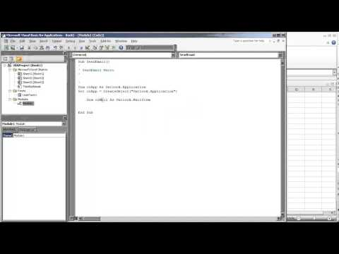 Send E-Mail in VBA Excel through Microsoft Outlook (Video 1 of 4)
