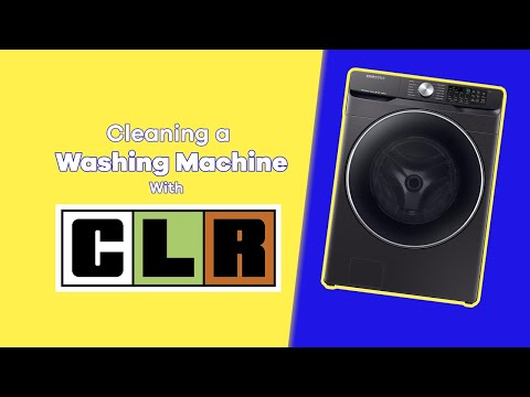 Cleaning a washing machine with CLR