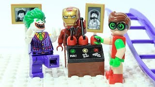 Lego Iron man and Robin Brick Building Robot Joker Funny Superhero Cartoon