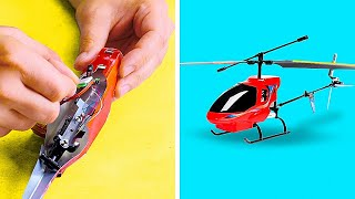 DIY Mini Helicopter Model & Mini Car Models