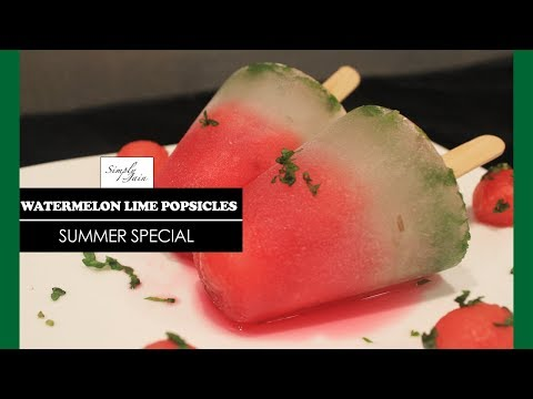 Watermelon Lime Popsicles   How To Make Popsicle   Summer Special   Simply Jain