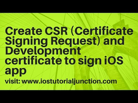 Create Certificates for iOS app using Apple developer portal