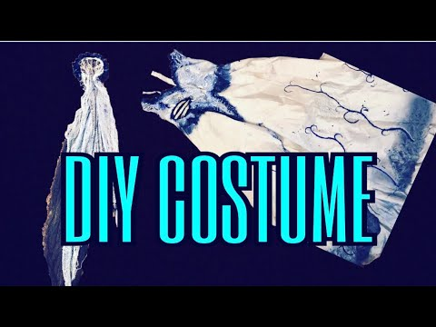 DIY HOW TO MAKE YOUR CORPSE BRIDE DRESS COSTUME | STEPHANY FLAMENCO