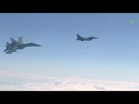 Buzzing By: NATO F-16 tries to approach Russian defense minister plane over Baltic