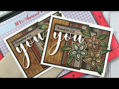 Boho Flowers Autumn Card with Misti Technique