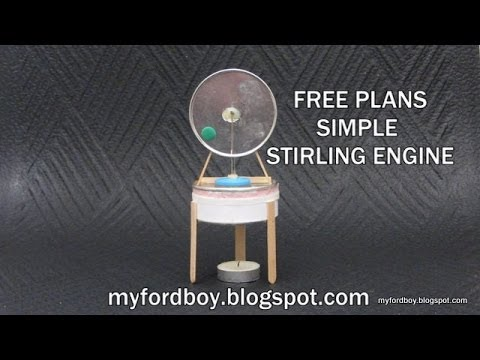 Free Plans Myfordboy Pringle Stirling Engine