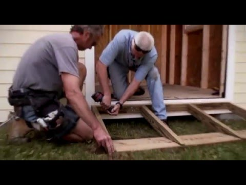 Building a ramp for shed