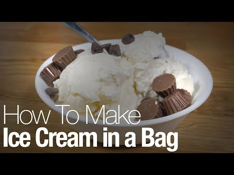 Here's how to make ice cream at home—using a plastic bag