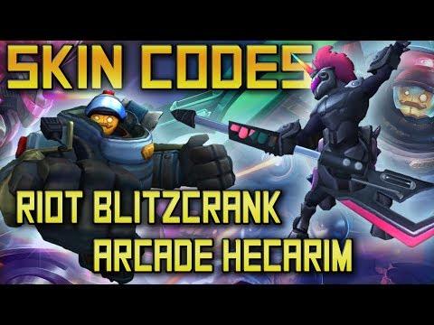 Arcade Hecarim and Riot Blitzcrank Skin Codes