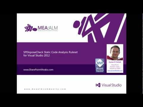 SPDisposeCheck Static Code Analysis Ruleset for Visual Studio 2012