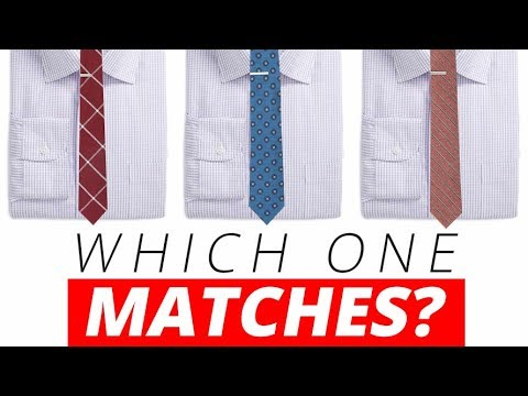 Matching Shirts & Neckties Every Time   Best Dress Shirt & Tie Combinations