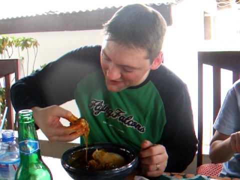 Eating Banku + Okra Soup in Accra, Ghana