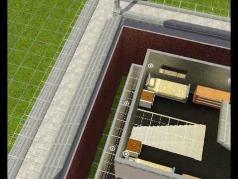 Sims 3 - First try @ multilevel basement
